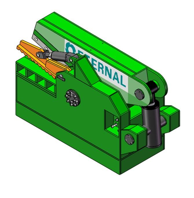 鳄鱼式液压剪切机